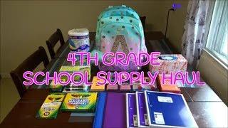 4TH GRADE SCHOOL SUPPLY HAUL! | BACK TO SCHOOL 2018