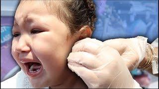 MIZO GETS HER EARS PIERCED!!!