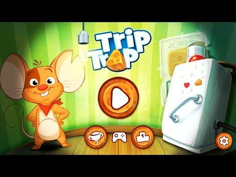 trip trap МЫШОНОК И СЫР прохождение логической игры для детей ДЕТСКИЙ ЛЕТСПЛЕЙ kids games children