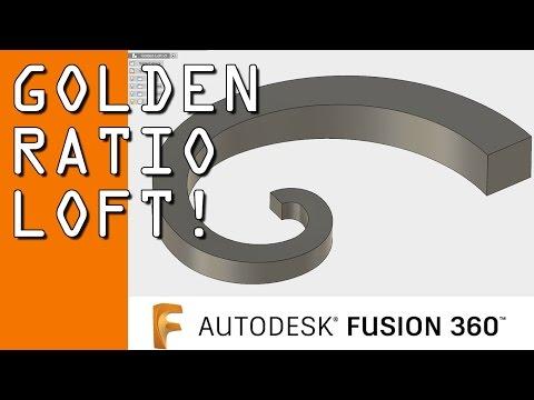 Fusion 360 Loft: The Golden Ratio! - NYC CNC
