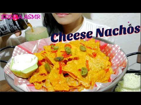 ASMR 咀嚼音🧀Cheese Nachos チーズナチョス 起司玉米片 치즈나쵸 Nachos au fromage *EATING SOUND*