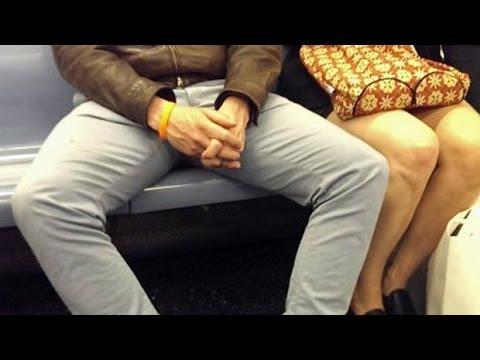 Битва полов в метро — мужчины и их ноги.
