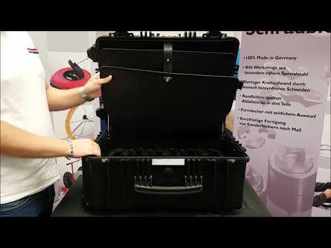 Flugtauglicher Hartschalen Werkzeugkoffer Gigant mit Trolley Funktion Cimco 170090 Elektriker Koffer