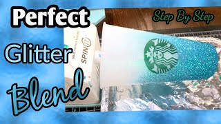 Perfect Ombre on Starbucks cup | Glitter Tumbler | Epoxy on a Starbucks cup