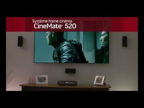 Présentation du système home-cinéma 5.1 Bose Cinemate 520