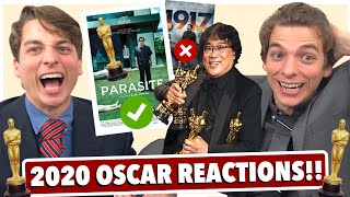2020 Oscar WINNER Reactions!! (PARASITE SWEEPS!!!)