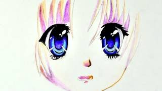Смотреть онлайн Как нарисовать карандашом глада девушки аниме