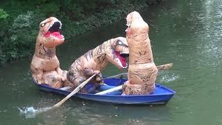 Lustige Outtakes vom Dreh unserer Jurassic-Park-Parodie - Filmspaß mit Aufblas-Dinos!