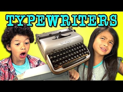 Watch Kids Try To Figure Out How To Use An Old Typewriter