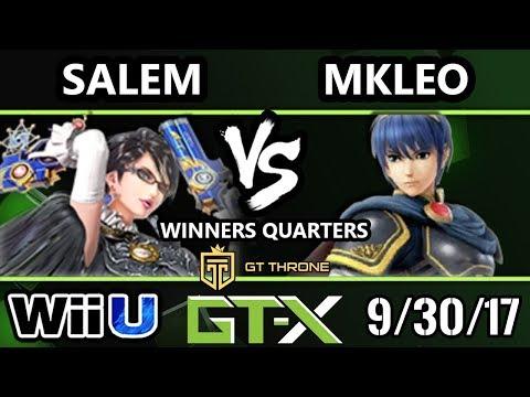 GTX 2017 Smash 4 - FOX MVG | MKLeo (Marth) vs MVG | Salem (Bayonetta) - Wii U W.Quarters