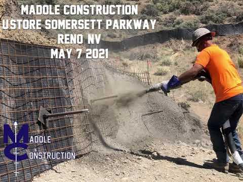 U-Store Retaining Wall Shotcrete Phase 1