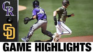 Momenti salienti del gioco Rockies vs. Padres (8/1/21)   Punti salienti della MLB
