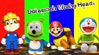 Wrong Head Rumble Paw Patrol, Doraemon, Mario, Gummy Bear Finger Family Songs | Lido TV