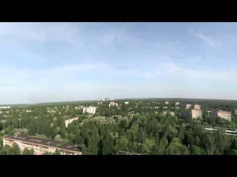 Chernobyl panorama from the Voskhod Building in Pripyat