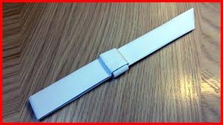 Как сделать простой нож из бумаги а4 без ножниц и клея