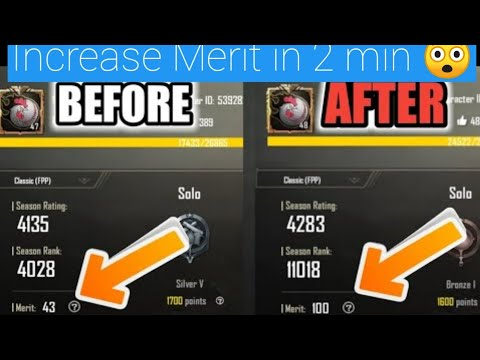 How to Increase Merit In Pubg Mobile Payload Mode In 2 Min Only 🔥 ! With Live Proof 😍!