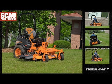 2019 SCAG Power Equipment Tiger Cat II 48 in. 22 hp Kawasaki Zero Turn Mower in La Grange, Kentucky - Video 1