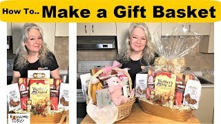 How To Make Gift Baskets For Christmas, Baby, Birthday & Other Gifts, Men & Women Crafts Over 50
