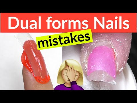 Dual Form Nails - Common MISTAKES