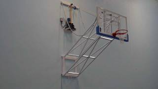 Thaipradith Wall Mounted Up Folding Basketball Backstops