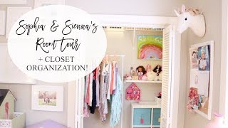 Girls' Shared Room Tour + Closet Organization