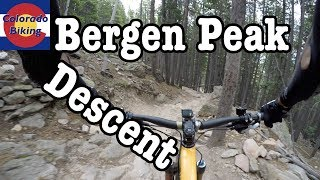 Main descent from top of Bergen Peak using Too Long.
