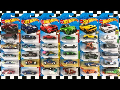 Opening 30 New Hot Wheels 2018 P Case Cars!