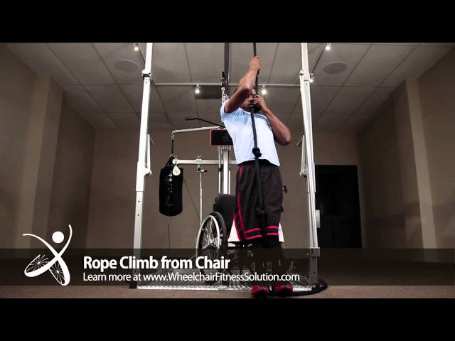 Wheelchair Fitness Solution | Exercise: Rope Climb from Chair (2 of 40)