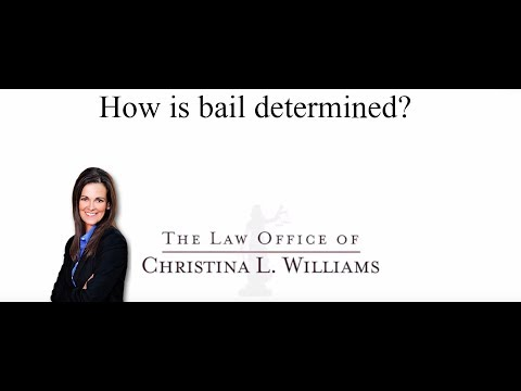 How is bail determined in…