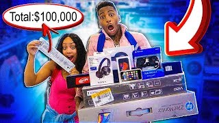 Anything My Boyfriend Can CARRY I'll Buy It Challenge!!! *Funniest*