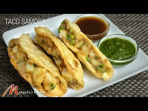 Taco Samosa (Indian Gourmet Appetizer) Recipe by Manjula
