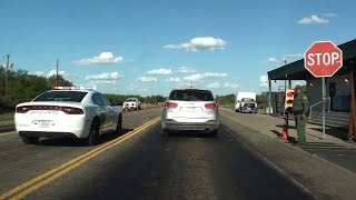 BORDER PATROL CHECKPOINT, HWY 277, EAST OF EAGLE PASS, TEXAS