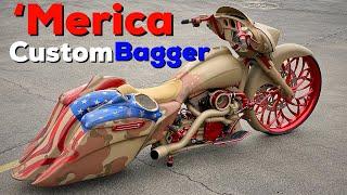 """Merica Harley Street Glide 30"""" Turbo Custom Bagger"""