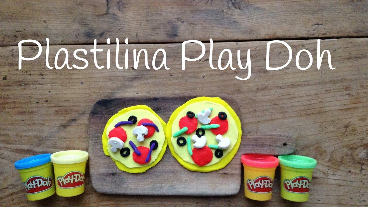 Play Doh PIZZA español | Figuras de PLASTILINA fáciles de hacer