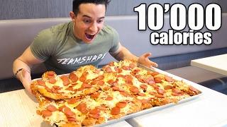 MANGER PIZZA XXL 10'000 CALORIES !!