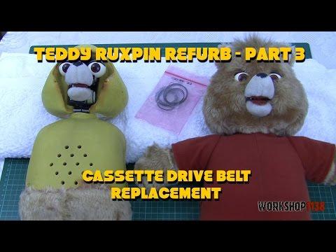 Teddy Ruxpin Refurb Part 3 - Cassette Drive Belt Replacement