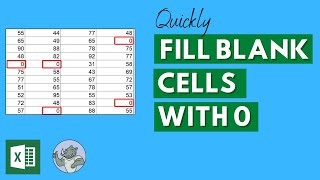 Quickly Fill Blank Cells in Excel with 0 - Excel Trick