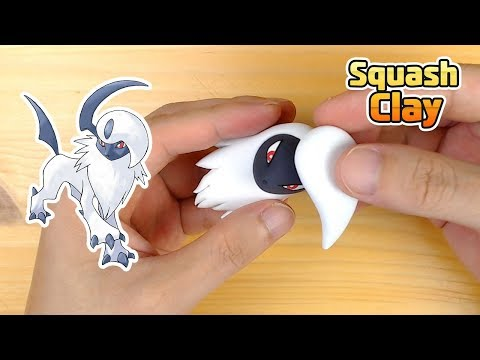 How to Make Absol Pokémon easily in Clay