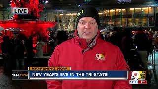 Despite the cold, NYE party continues at Fountain Square