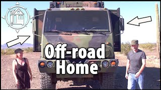 Couple Converts Army Truck into Apocalypse Tiny Home