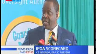 IPOA board officials hand over end of term report to CS Fred Matiang'i