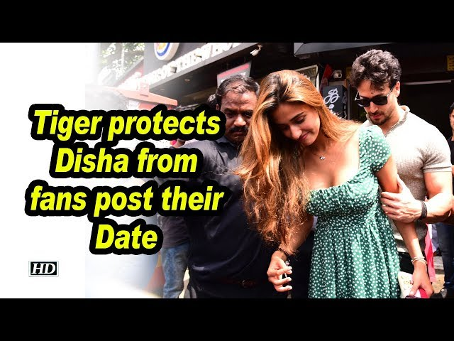 Tiger protects Disha from fans, post their Date