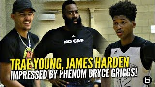 James Harden & Trae Young IMPRESSED By Phenom Bryce Griggs vs Peach Jam Champs Woodz!
