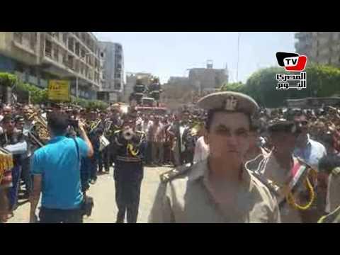 جنازة عسكرية لـ«شهيد الشرطة» ببني سويف