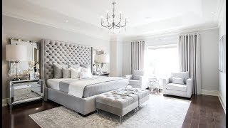 Grey Glam Bedroom Makeover - Kimmberly Capone Interior Design