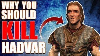Why You Should Kill Hadvar? | Hardest Decisions in Skyrim | Elder Scrolls Lore