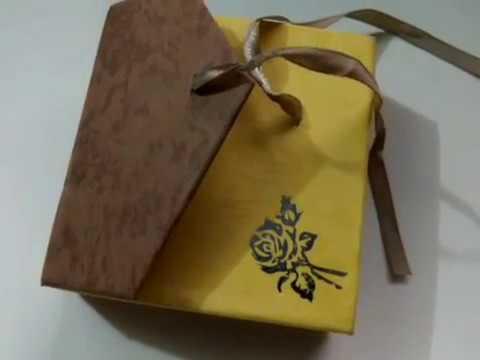 Banggood Color Ribbon Bowknot Square Jewelry Box