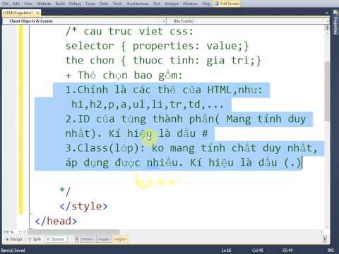 VD01 - Cascading Style Sheets