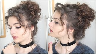 Giant Messy Curly Bun | Tutorial