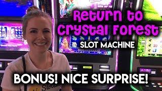 SURPRISE WIN! Return to Crystal Forest Slot Machine! BONUS!